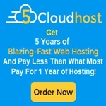 5 Cloudhost - 5 years of Hosting for less than most people pay for 1 year